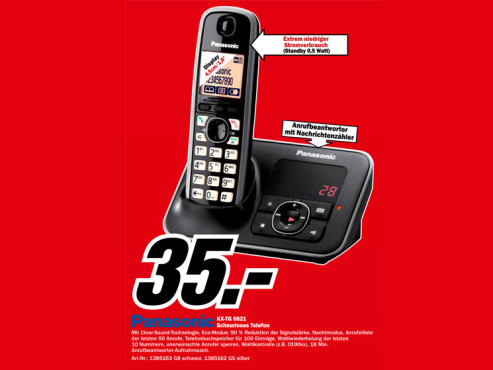 Panasonic KX-TG6621 ©Media Markt