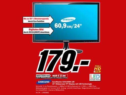 Samsung Syncmaster S24A300B ©Media Markt