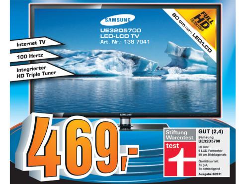 Samsung UE32D5700 ©Saturn