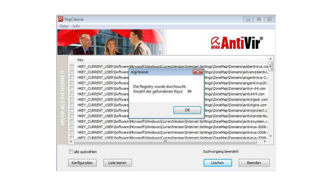 Avira Registry Cleaner © Avira