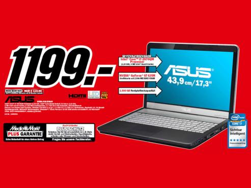Asus N75Sl-V2G-TZ081V ©Media Markt