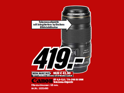 Canon EF 70-300mm f4-5.6 IS USM © Media Markt