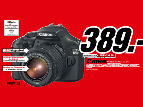 Canon EOS 1100D Kit 18-55 mm © Media Markt