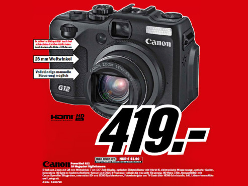 Canon PowerShot G12 © Media Markt