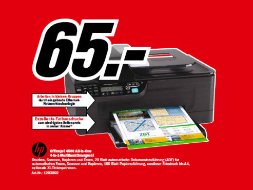 Hewlett-Packard HP Officejet 4500 © Media Markt