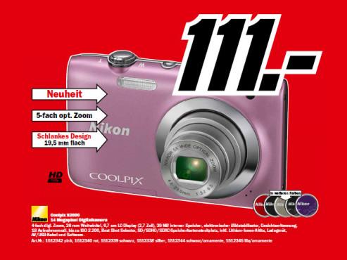 Nikon Coolpix S2600 ©Media Markt