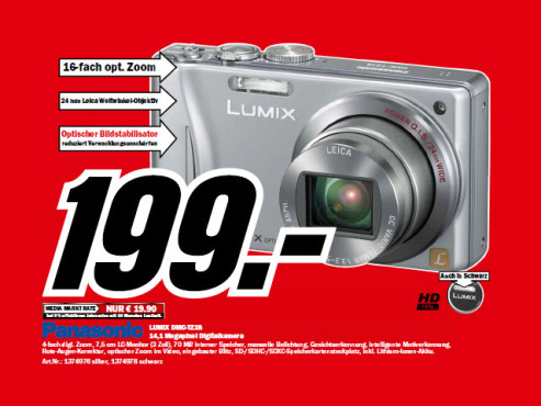 Panasonic Lumix DMC-TZ18 © Media Markt