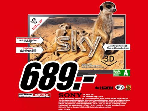 Sony KDL-40EX725 ©Media Markt