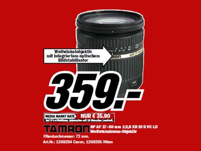 Tamron SP AF 17-50mm f2.8 XR Di II VC LD Aspherical IF (Canon/Nikon) ©Media Markt