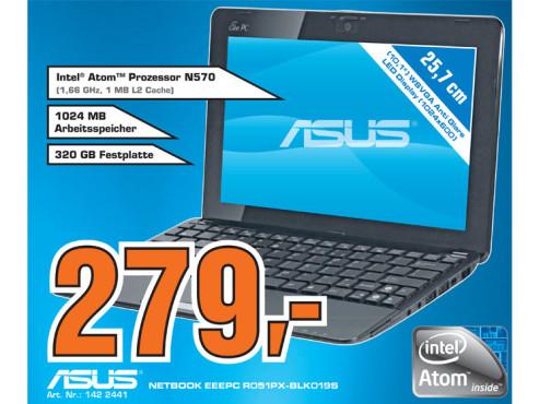 Asus Eee PC R051PX-BLK019S ©Saturn