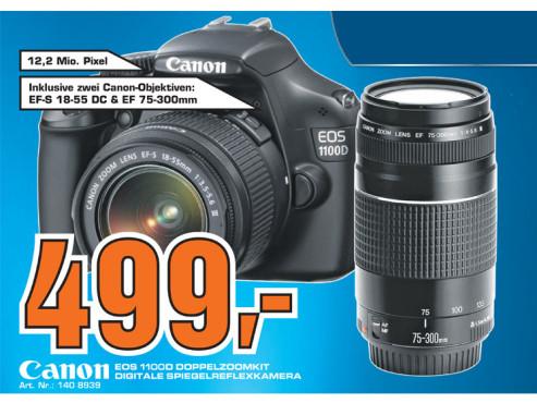 Canon EOS 1100D Doppelzoomkit ©Saturn