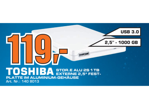 Toshiba StorE Alu 2S 1TB ©Saturn