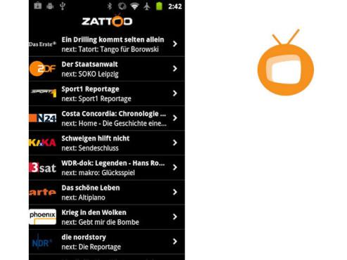 Zattoo Live TV ©Zattoo Europa AG