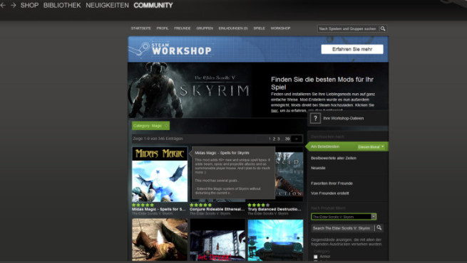 Bildergalerie Skyrim-Mods: Steam Workshop © Valve