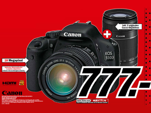 Canon EOS 550D Kit 18-55 mm + 55-250 mm © Media Markt