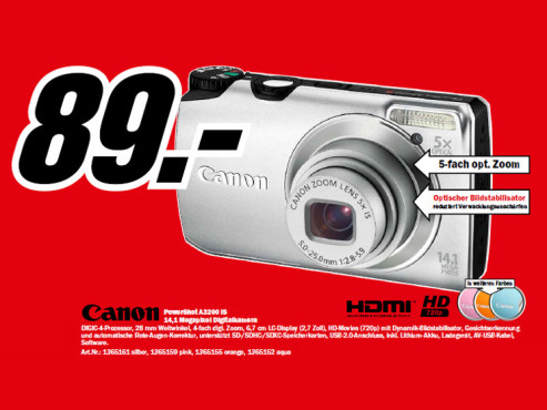 Canon PowerShot A3200 IS © Media Markt