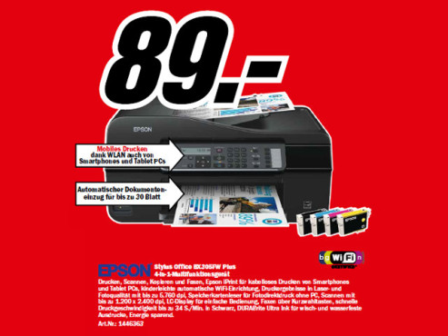 Epson Stylus Office BX305FW Plus © Media Markt2
