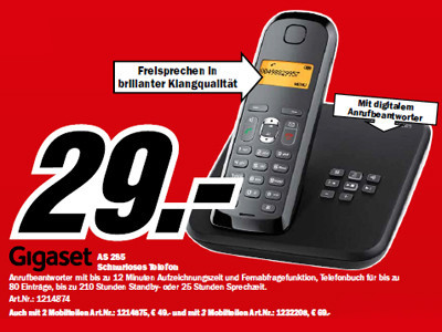 Gigaset AS285 © Media Markt