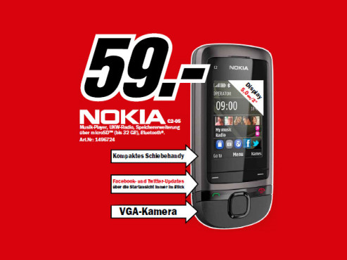 Nokia C2-05 Touch and Type © Media Markt