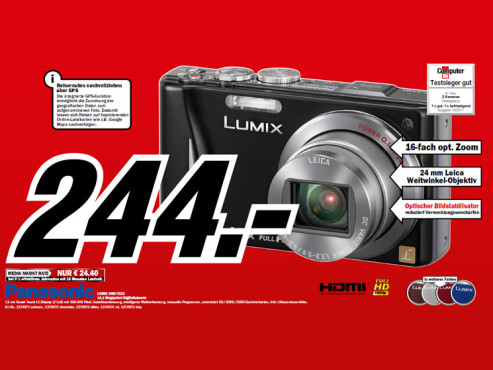 Panasonic Lumix DMC-TZ 22 © Media Markt