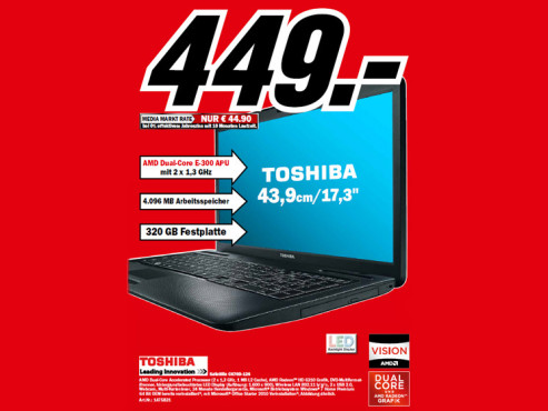 Toshiba Satellite C6700D-126 © Media Markt