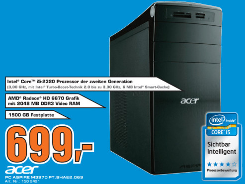 Acer Aspire M3970 (PT.SHAE2.069) ©Saturn