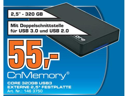 CnMemory 2.5 Core 320 GB ©Saturn