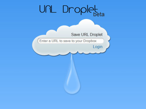 Screenshot URL Droplet © URL Droplet