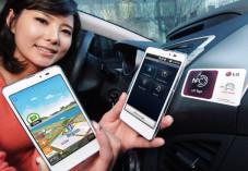 LG stellt das Optimus LTE Tag vor Ein Sticker (rechts im Bild) versetzt das Optimus LTE Tag in den Auto-Modus. ©LG
