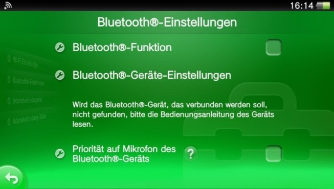 PS Vita: Bluetooth © Sony