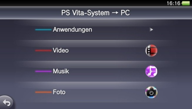 PS Vita: Datentransfer © Sony
