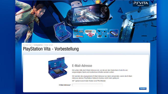 PS Vita: E-Mail © Sony