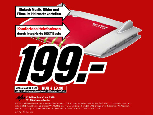AVM Fritzbox Fon WLAN 3790 © Media Markt