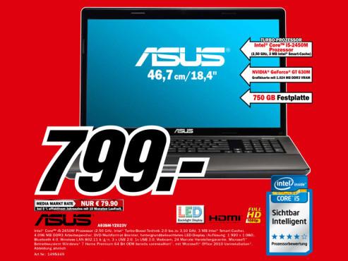 Asus A93SM-YZ023V ©Media Markt
