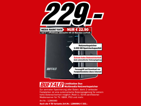 Buffalo LinkStation Dou 2TB © Media Markt