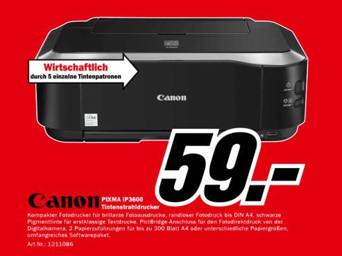 Canon PIXMA iP 3600 ©Media Markt