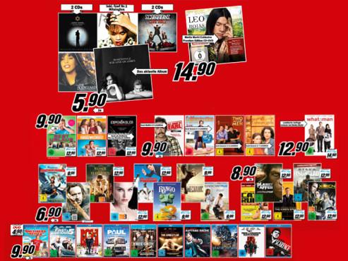 Diverse CDs und DVDs ©Media Markt