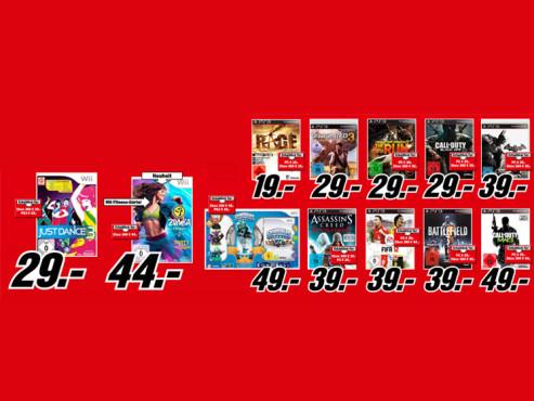 Diverse Videospiele ©Media Markt