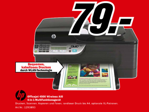 HP Officejet 4500 Wireless © Media Markt