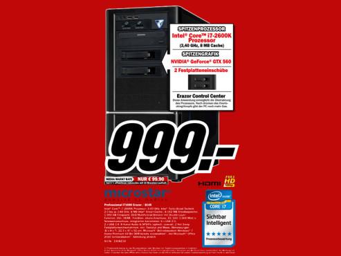 Microstar Professional I71000 Erazer / 8145 ©Media Markt