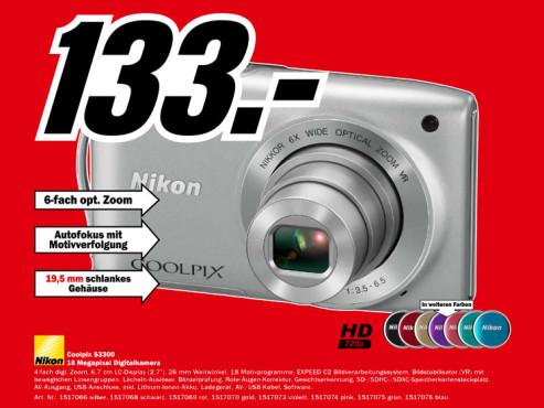 Nikon Coolpix S3300 ©Media Markt