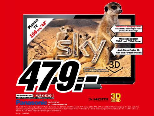 Panasonic TX-P 42UT30E ©Media Markt