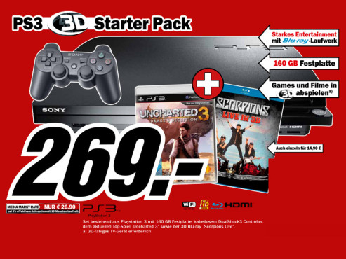 Playstation 3 3D Starter Pack © Media Markt