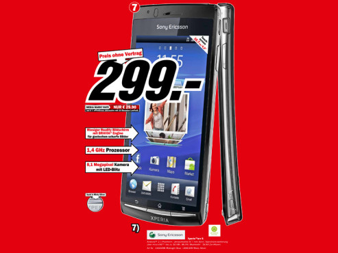 Sony-Ericsson Xperia Arc S © Media Markt