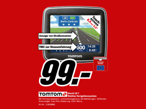 TomTom Start 2 CE T © Media Markt
