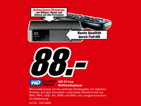 Western Digital WD TV Live WiFi © Media Markt