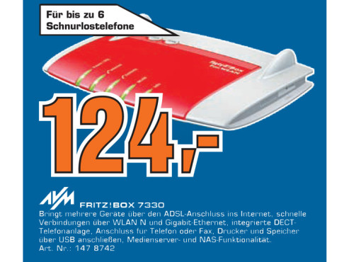 AVM FRITZ!Box Fon WLAN 7330 © Saturn