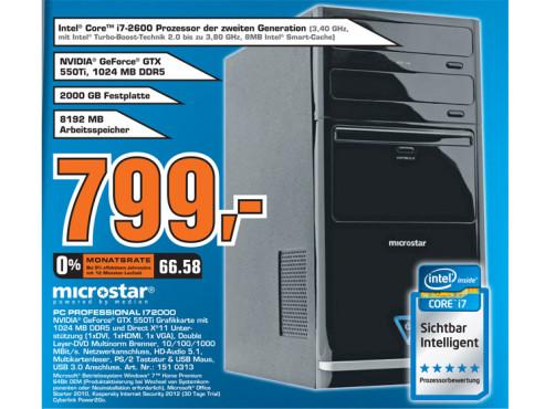 Microstar PC Professionell I72000 ©Saturn