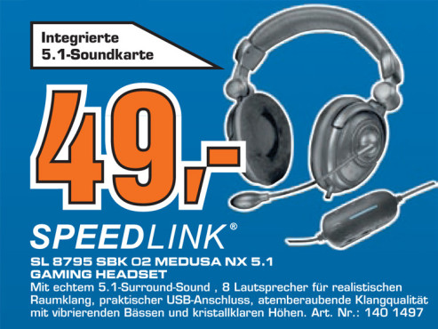 Speed-Link Medusa NX USB 5.1 (SL-8795-SBK) © Saturn