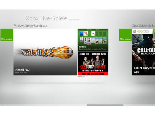 Games in Windows 8 © COMPUTER BILD